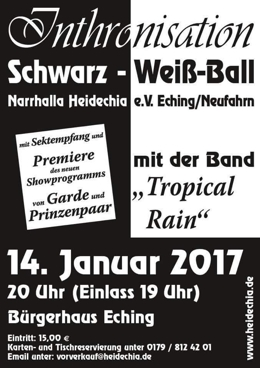 Narrhalla Heidechia Inthronisationsball 2017