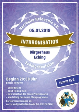 Narrhalla Heidechia_Inthronisation_2019